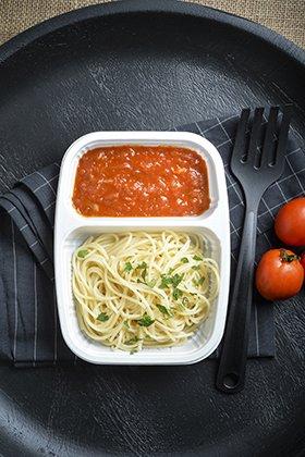 กล่องข้าว 2 ชอง สีขาว สำหรับใส่อาหาร