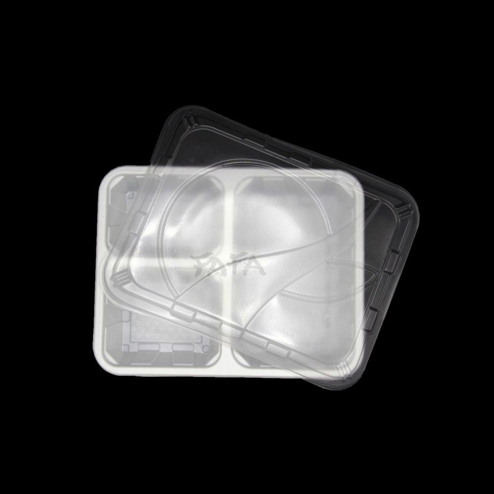 กล่องข้าว 3 ช่อง สีขาว LB08
