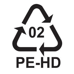 พลาสติกรีไซเคิล เบอร์ 2 HEPE หรือ High Density Polyethylene