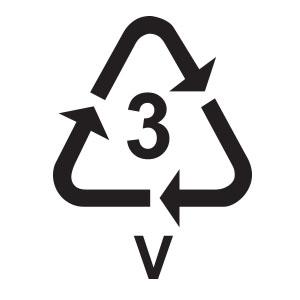 พลาสติกรีไซเคิล เบอร์ 3 PVC หรือ Poly Vinyl Chloride
