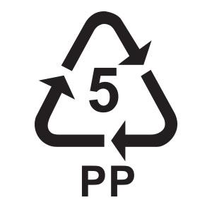 พลาสติกรีไซเคิล เบอร์ 5 PP หรือ Polypropylene