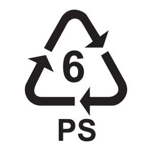 พลาสติกรีไซเคิล เบอร์ 6 PS หรือ Polystyrene