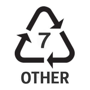 พลาสติกรีไซเคิล เบอร์ 7 (พลาสติกอื่นๆ ที่ไม่ใช่ 6 ชนิดข้างต้น)